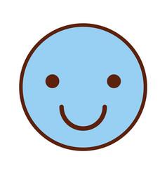 Happy face emogy icon vector