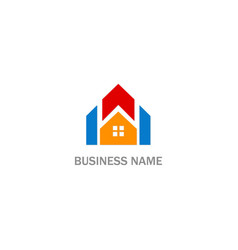 home realty colored logo vector image