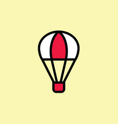 hot air balloon icon thin line on color background vector image