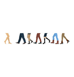 Legs of people group vector
