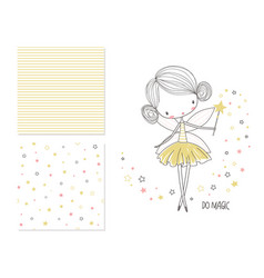 little fairy surface design and 2 seamless vector image