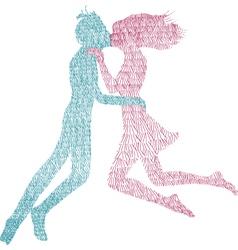 Man and Woman kiss vector image