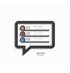 Modern bubble speech infographic vector