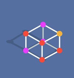 Molecule mode isolated on blue vector