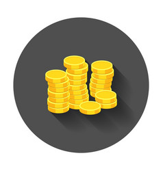 money icon coins in flat style icons for design vector image