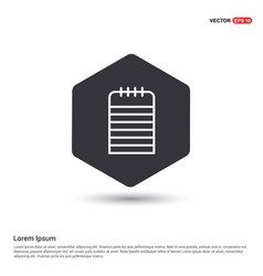 notepad icon hexa white background icon template vector image