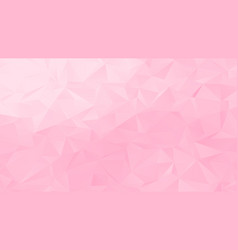 Pastel pale pink low poly backdrop design vector