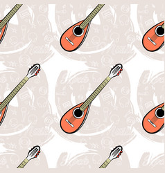 Pattern seamless guitar-04 vector