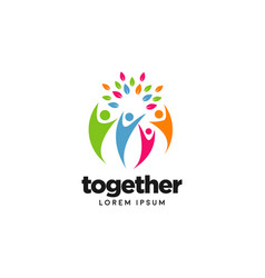 People community family together logo symbol vector