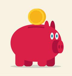 pig bank icon vector image