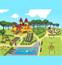 playground map vector image