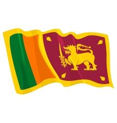 Political waving flag of sri lanka vector