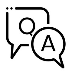 Question and answer or qa speech bubbles line art vector