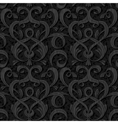 Ribbon black isolated seamless background vector