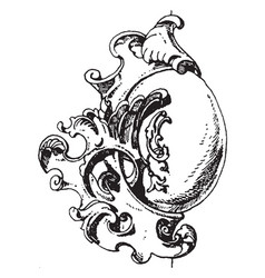 Rococo strap-work frame usually placed in a vector