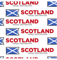 Scotland travel destination scottish national flag vector