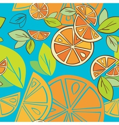 Seamless background Citrus Mix vector image
