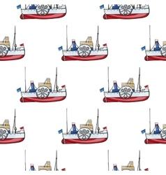Seamless pattern water transpor kids toy vector