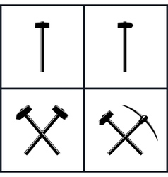 Set of tools for percussion works vector