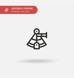 Sextant simple icon symbol vector