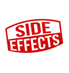 Side effects sign or stamp vector