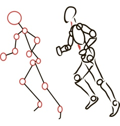 Sketch Running Person vector image