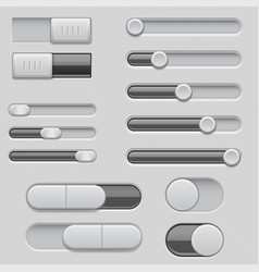 Slider bars set of volume level console vector