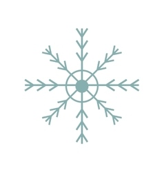 Snowflake decoration isolated icon vector