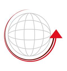 Sphere with arrow around vector