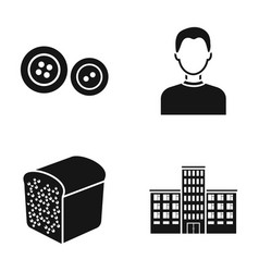 Style bakery and or web icon in black style vector