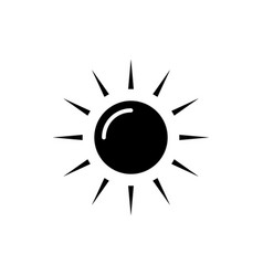 sun icon black sign on vector image