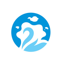 swan lake sign vector image