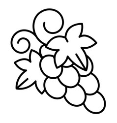 Table grape icon outline style vector