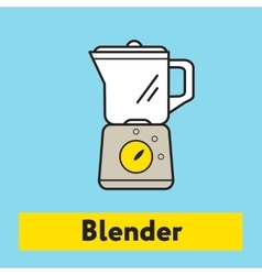 The flat icon of blender mixer silhouette on the vector image