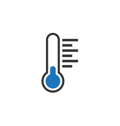 thermometer icon graphic design template vector image
