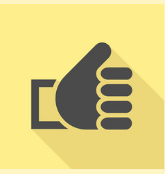 Thumbs up icon vector