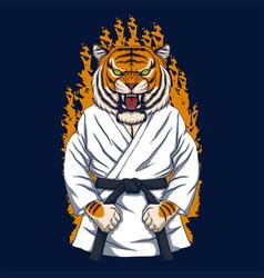 Tiger karate vector