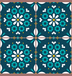 tiles seamless pattern inspired portugue vector image