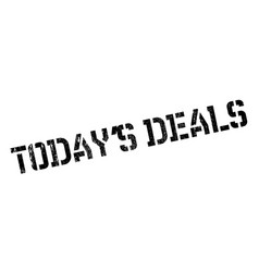 today s deals rubber stamp vector image
