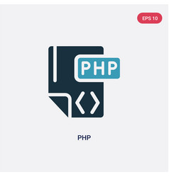 two color php icon from programming concept vector image