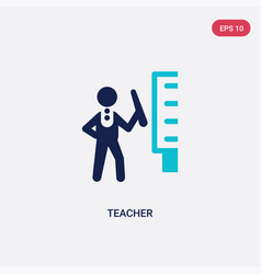 Two color teacher icon from education 2 concept vector