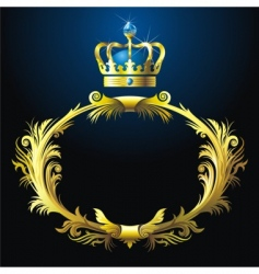 vignette and crown vector image