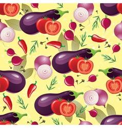 Violet vegetables seamless vector