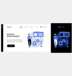 Website maintenance concept landing page vector