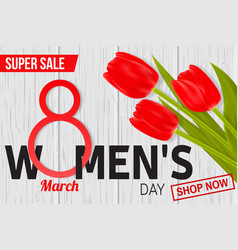 womens day sale design for web banner flyer or vector image