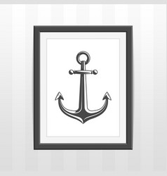 frame with ships anchor vector image vector image