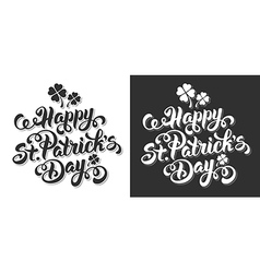 Saint Patrick lettering set vector image vector image
