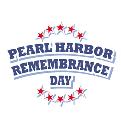 USA Pearl Harbor Remembrance Day logo vector image vector image