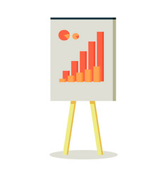 whiteboard with infographics vector image