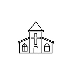 church line icon religious monument and building vector image vector image